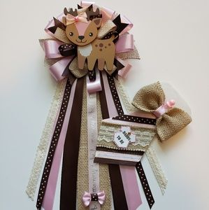 Rustic baby shower corsage/mom to be pin